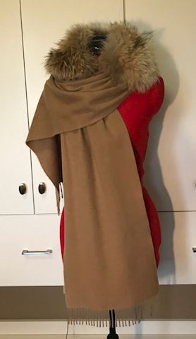 Vintage Fox Fur and Cashmere Scarf (Wrap)