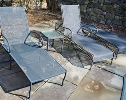 3 Wrought Iron Chaise Lounge Chairs