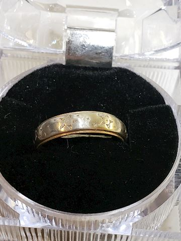 14k Size 8 1/4 Wedding Band
