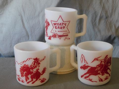 Three coffee mugs