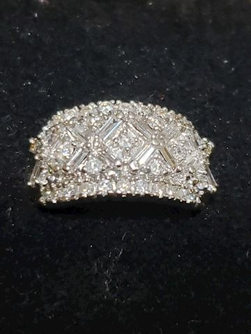 Art Deco Style Diamonds and 14k ring