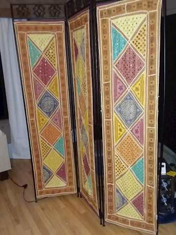 Pier One Three Panel Room Divider Screen