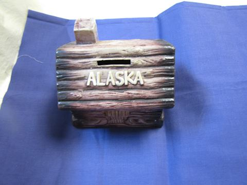 Alaska Log Cabin Coin Bank