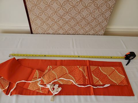2 Traditional Japanese orange and cream garments