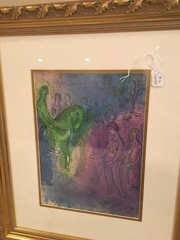 Chagall, Daphins and Chloe lithograph