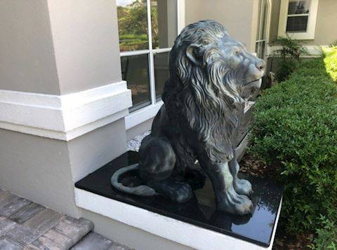 Bronze Lions Gaurdian Lions