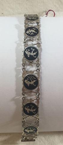 Vintage Siamese Sterling Silver Bracelet