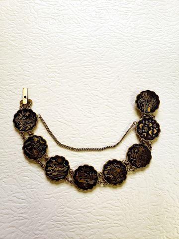 Engraved Disc Bracelet