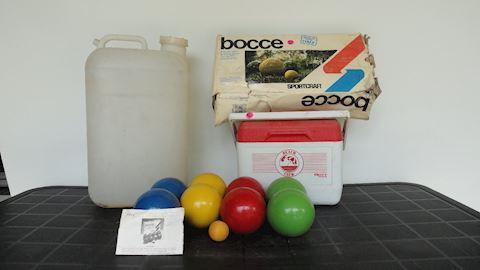 bocce ball, cooler water jug Lot #88