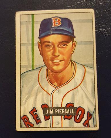 1951 Jim Piersall Rookie Baseball Card #306