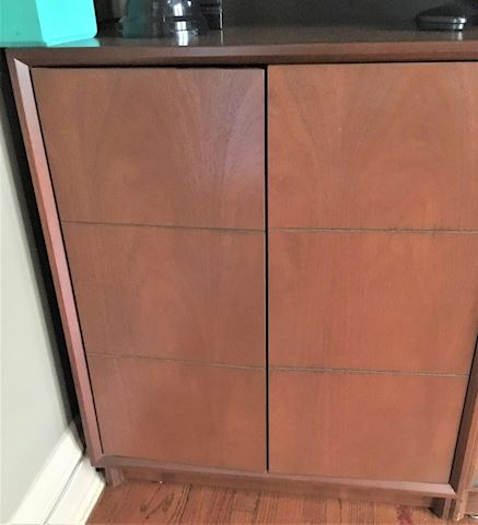 Wooden Mid Century Modern Stereo Cabinet