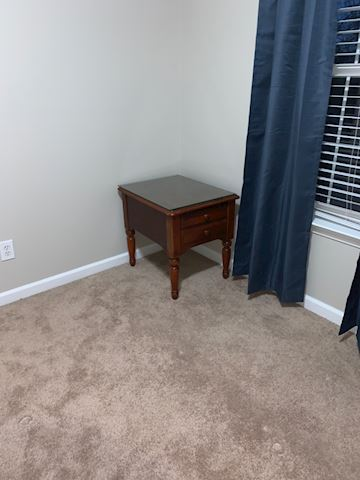 2 End Tables  with Glass Covering