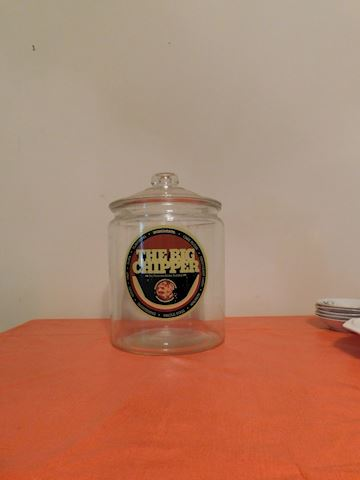 "171 'Big Chipper"" Large Glass Jar"
