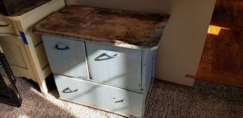 Farmhouse shabby chic cabinet dresser