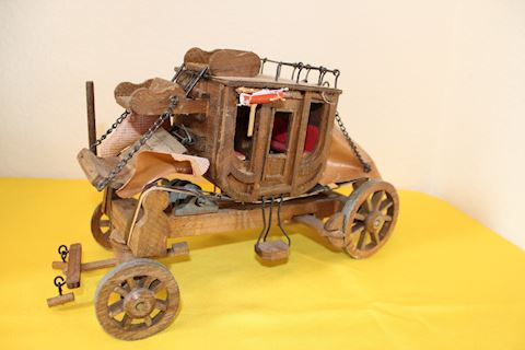 Wood Stagecoach Model