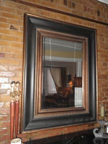 Black Beveled Mirror