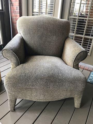 Leopard print comfy chair