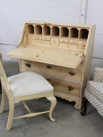 Light Pine Secretary Cabinet