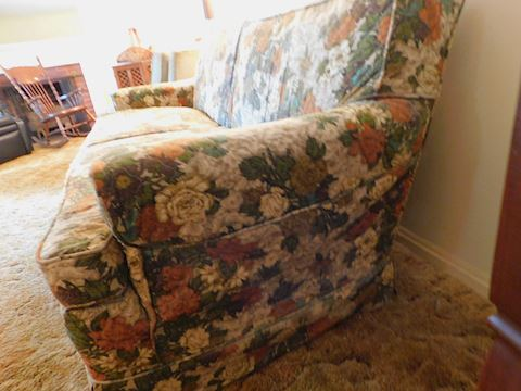 195 Slip Covered Vintage Sofa