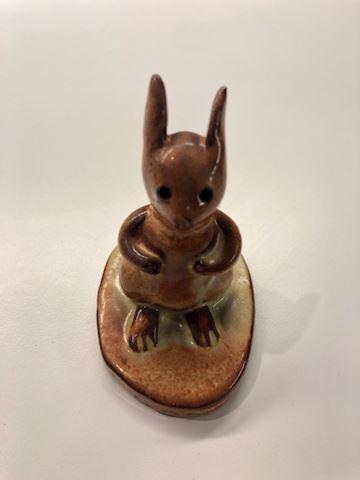 Handmade pottery rabbit