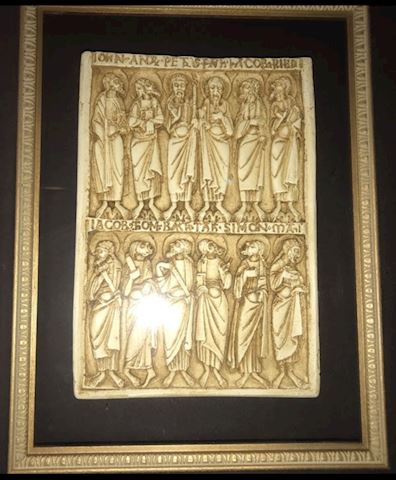 VINTAGE 12 DISCIPLES FRAMED PLAQUE