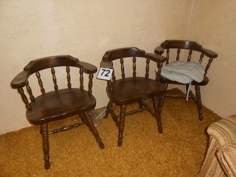 Lot # 72 Wood chairs