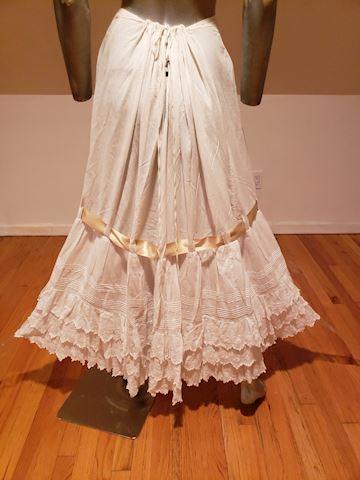 Edwardian lawn lace cotton petticoat