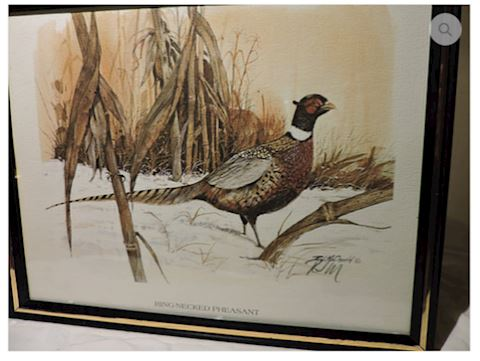 "Signed R.J. McDonald ""Ringed Necked Pheasant"""