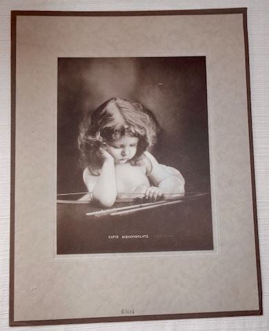 Unusual Cupid Disconsolate Print, c1915