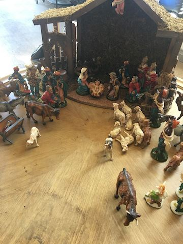 Vintage Italian Nativity Set Creche