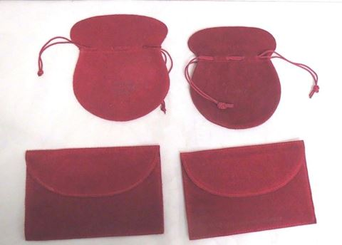 Lot of 4 Cartier Empty Leather Suede Bags Pouches