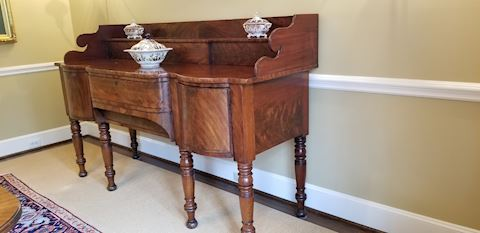 1800's Irish Mahogany Antique Sideboard