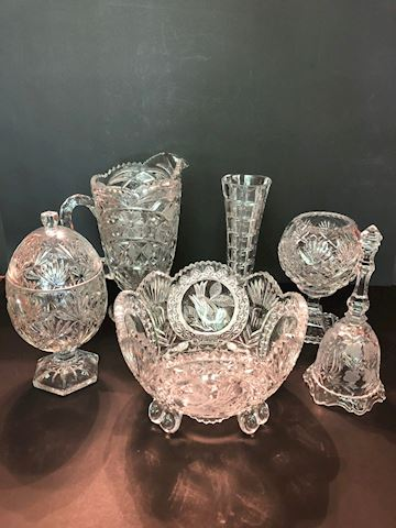 Collection of 6 Glass Decorative Items