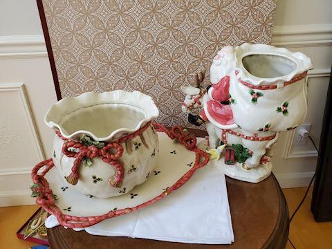 Fitz and Floyd various Christmas ceramic set