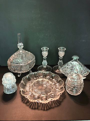 Collection of 7 Glass Decorative Items
