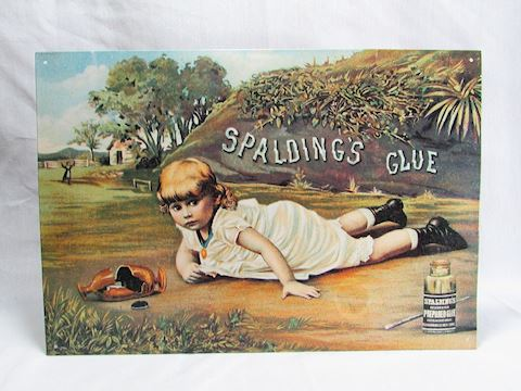 Spalding Glue Metal Sign