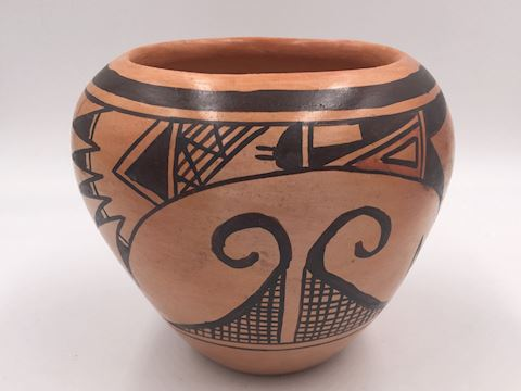 Native American Walpi Pottery Vase Signed