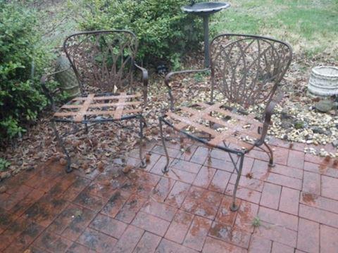 2 Woodard Patio Chairs