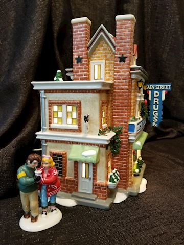 Department 56 Main Street Pharmacy with accessory