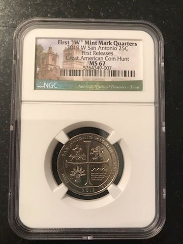 2019 W NGC MS67 FIRST RELEASES TEXAS SAN ANTONIO M