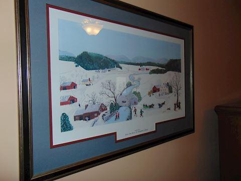 Framed Grandma Moses Print