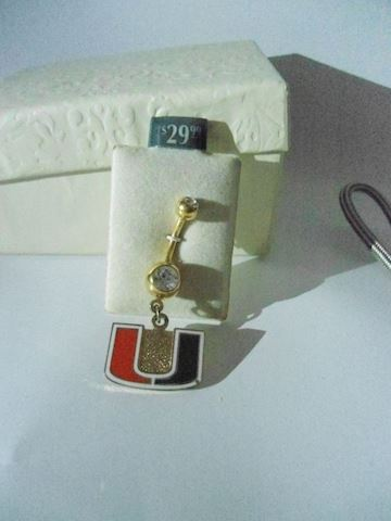University of Miami Belly Ring