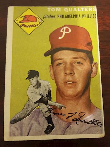 1954 Tom Qualters Phillies Baseball Card #174