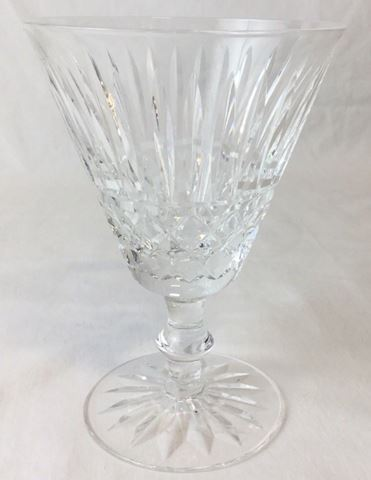 Clear crystal Waterford wide mouth glass 80S23