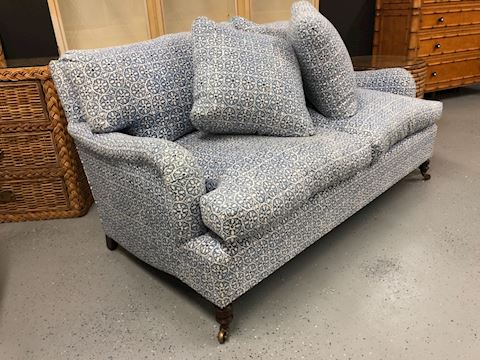 English style rolled arm sofa