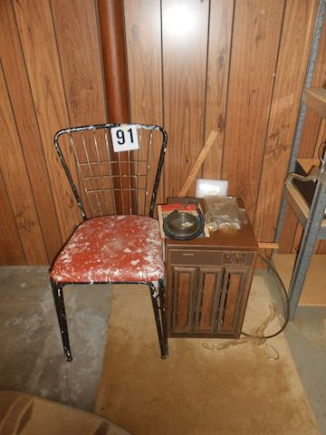 Lot #91 Vintage chair, etc