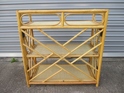 Large Bamboo Wood 3 Tier Shelf 50's