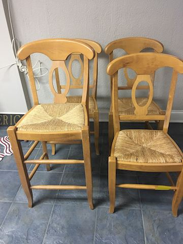 4 Pottery Barn Chairs - 1 Bar Height