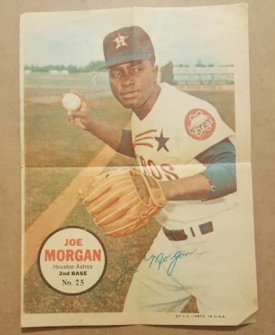 Old 1967 Joe Morgan Topps Poster Insert #25