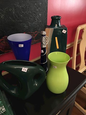 Collection of Art Glass and Pottery Items